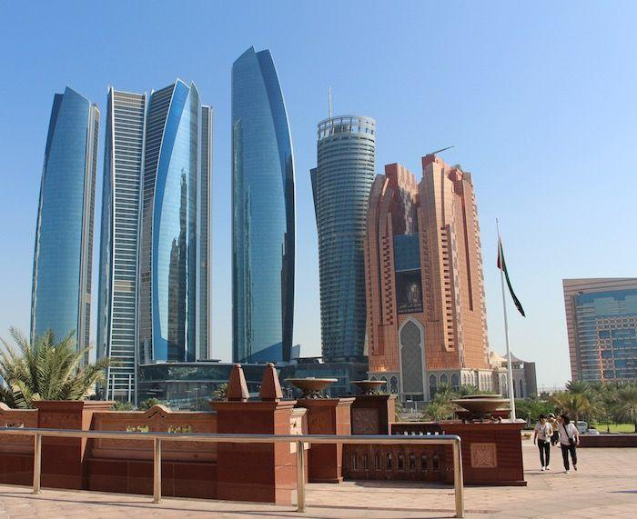 Etihad Towers and Bab Al Qasr hotel