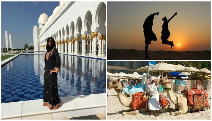 How I spent 5 Days in Dubai and Abu Dhabi! A Desert Safari, Camel rides, Burj Khalifa, High Tea at Burj Al Arab, Shopping in Souks, Visiting the Grand Mosque and so much more!!