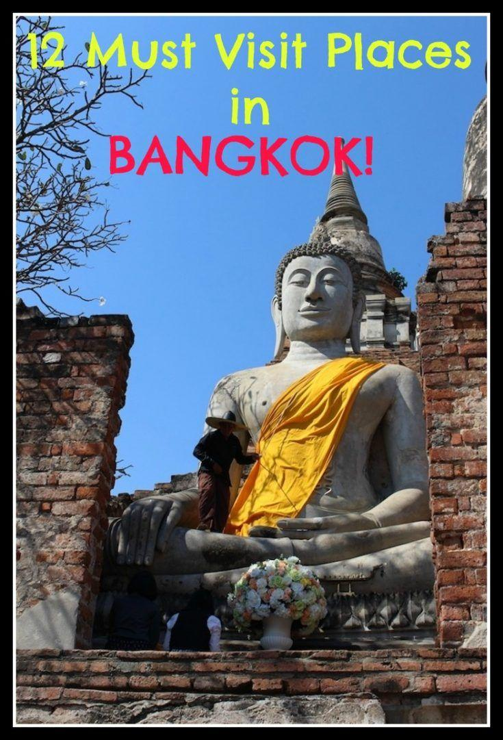 12 Must Visit Places in Bangkok & Beyond! If you are traveling to Bangkok Thailand it will be hard to narrow down what to see during your visit. Here is a 3 day travel itinerary of temples, palaces, restaurants, spas and historical sites!