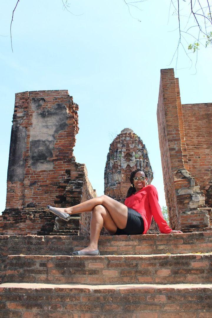 ruins at Wat Mahathat Temple of the Great Relic in Ayutthaya