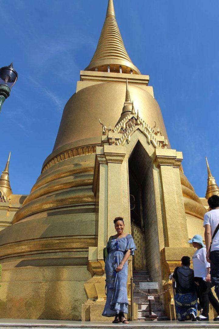 the golden pagoda at the Grand Palace