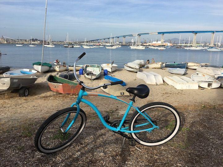 biking around Coronado Island