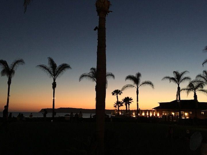 sunset over Hotel Del Coronado