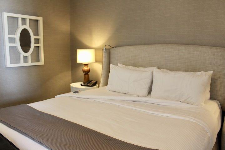 King size bed in our Junior Oceanfront Suite
