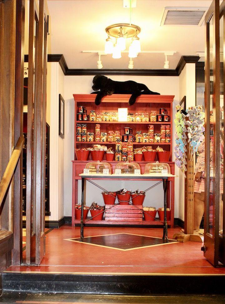 inside a store for dogs at Hotel Del Coronado