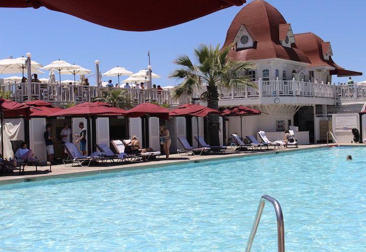main swimming pool at The Del
