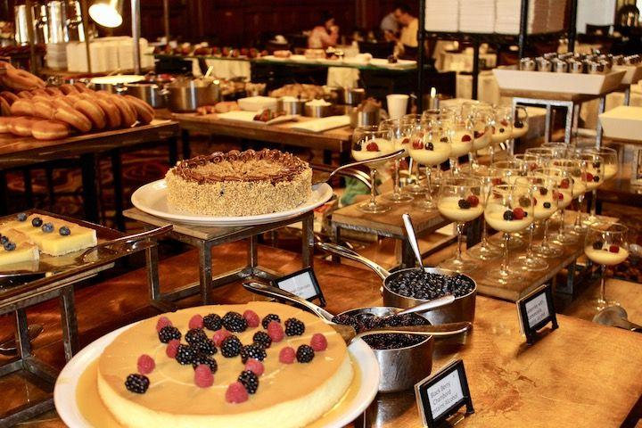 The dessert table at The Crown Room