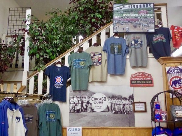 Chicago Cubs gear on Catalina Island