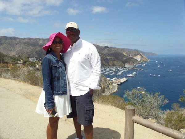 view from the hills on catalina island