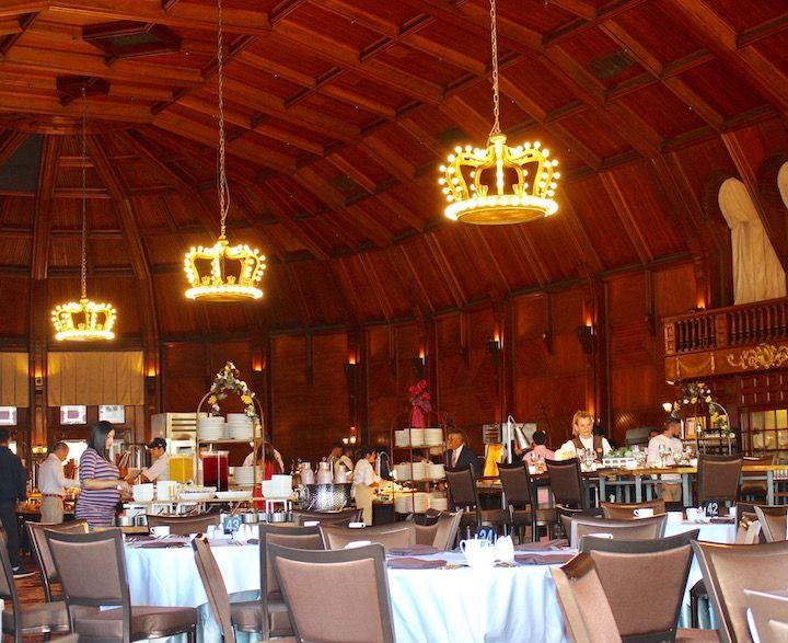 The dining room at The Crown Room