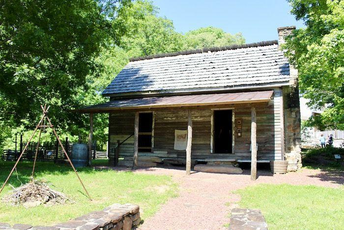 a former slave cabin at the African American Heritage Site