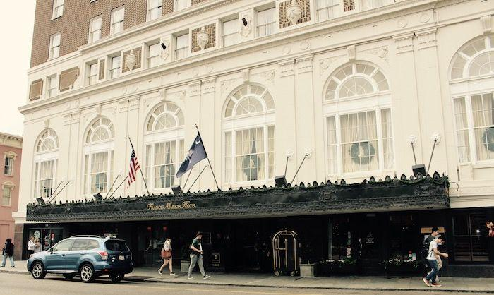 south carolina hotel, francis marion hotel, hotel in downtown charleston, review, accommodations