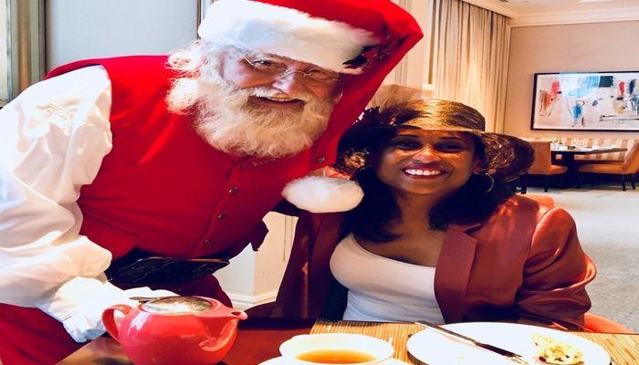 The St.Regis Atlanta Winter Wonderland Afternoon Tea with Santa Claus. Holiday event in Atlanta. Tealeaves teas
