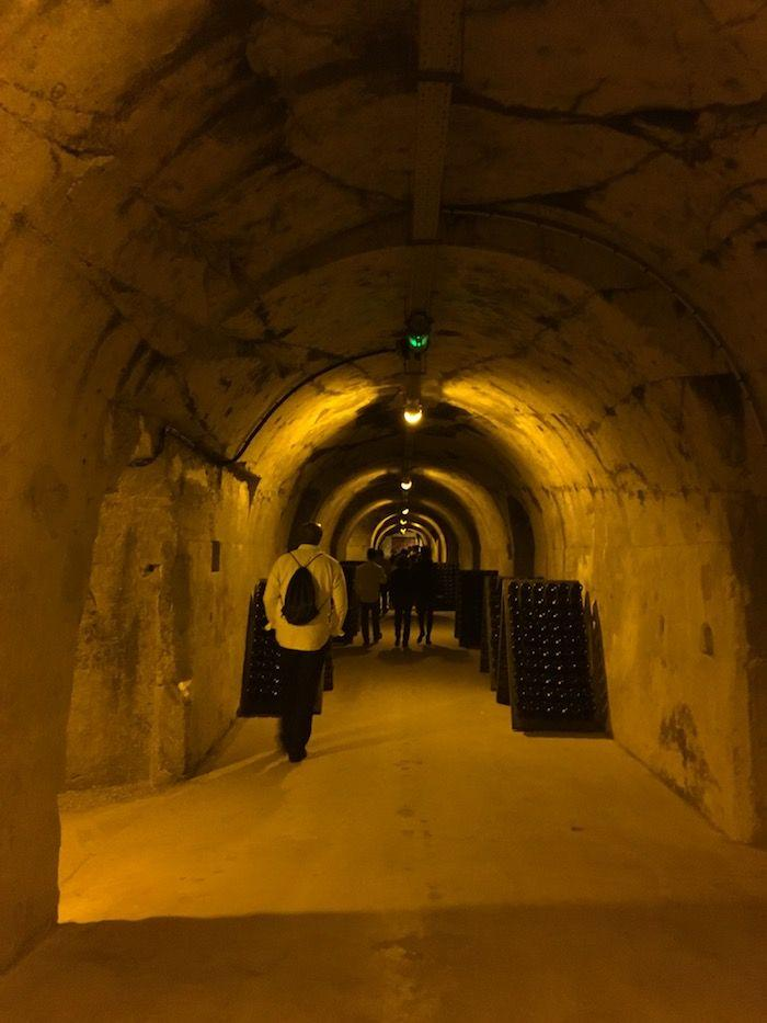 wine cellars at Champagne Taittinger