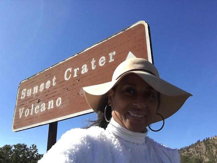 Sunset Crater Volcano sign