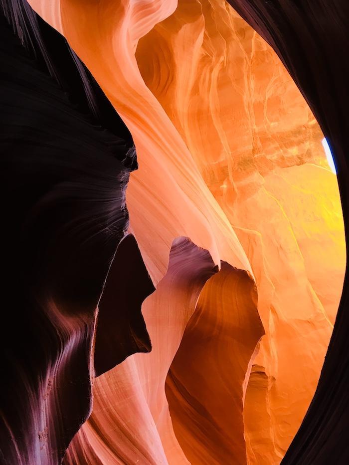 majestic canyon walls at lower antelope canyon