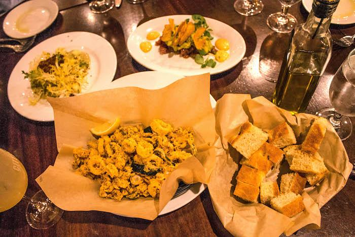 A sampling of appetizers at City Cellar