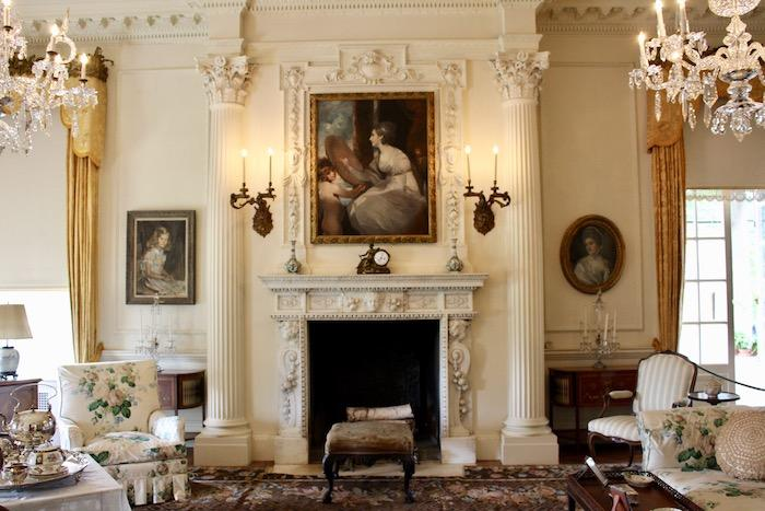 One of many beautiful interior rooms at Old Westbury Gardens