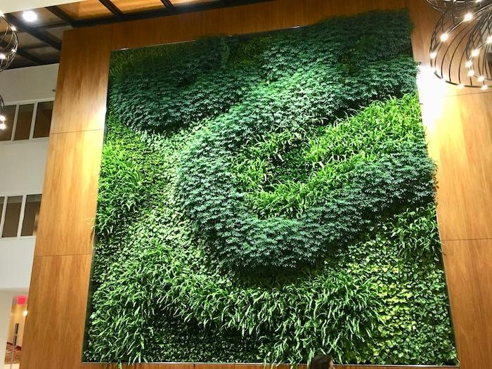 The green wall at the Long Island Marriott