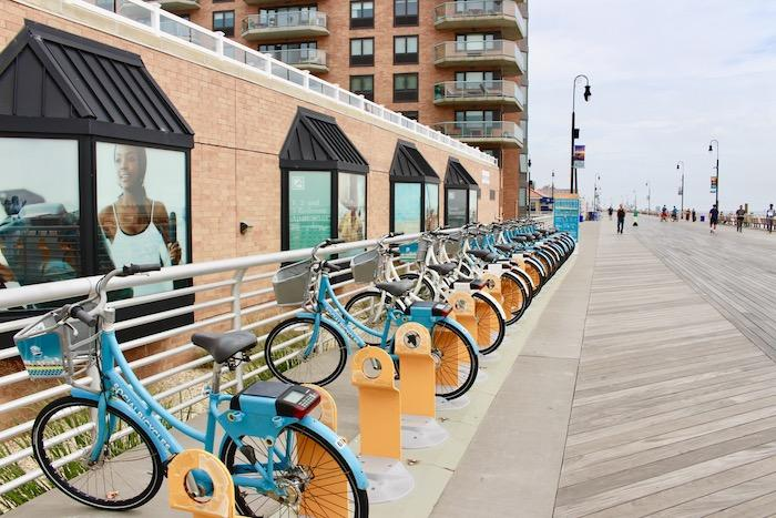 rental bikes on Long Beach boardwalk