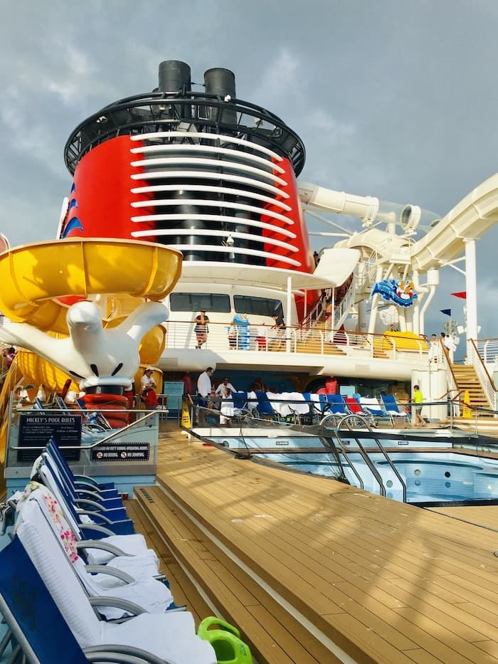 pool deck on a Disney cruise ship