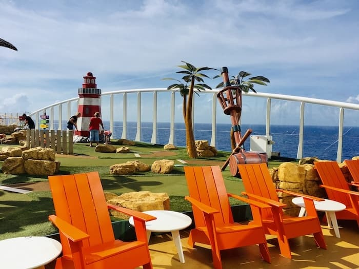 miniature golf course on a cruise ship