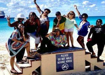oprah winfrey, oprah's girls' getaway cruise on holland america, nieuw statendam, girls trip, O magazine, bahamas, half moon cay,