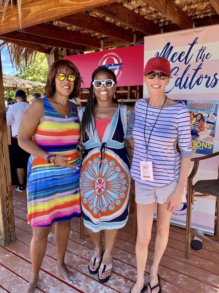 oprah's girls' getaway cruise, O the oprah magazine, Oprah winfrey, cruising the caribbean, half moon cay, nieuw statendam, girls getaway, cruise, first-time cruisers, gayle king, holland america cruise line