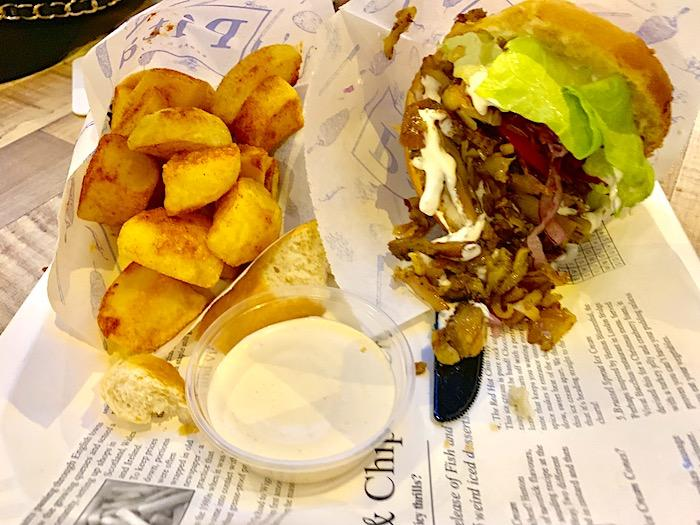 Gyro with fries