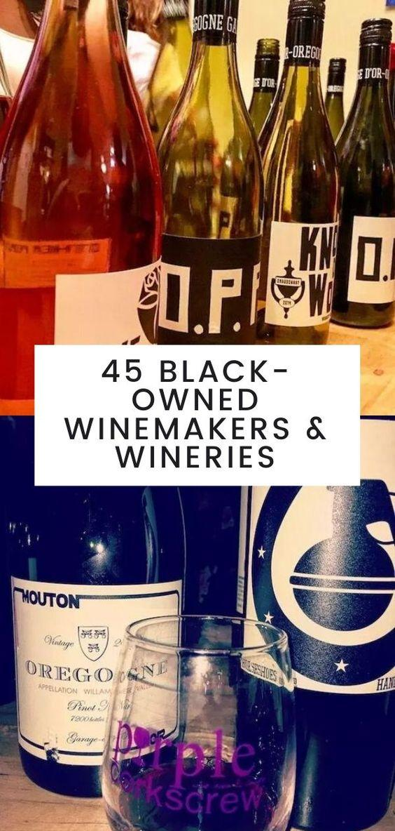 black-owned wines, black-owned wineries, black winemakers