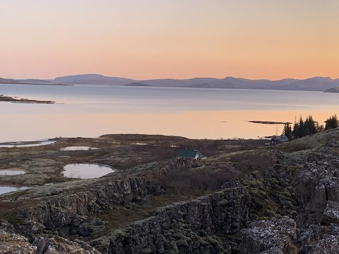 Thingvellir National Park where the two continents meet