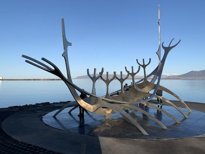 The Sun Voyager sculpture by Jon Gunnar Arnason