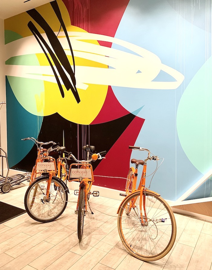 bikes to use at Canopy Hotel