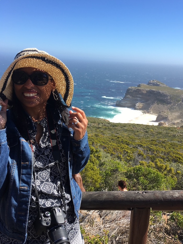 Dr. White on the Cape Town coast