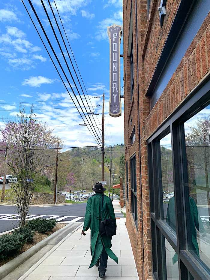 "Mr.Barton walking in ""The Block"" neighborhood"