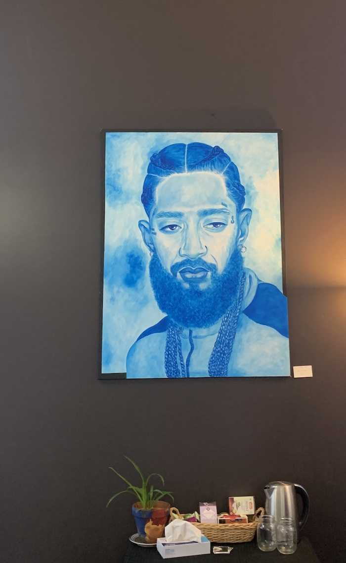 painting of Nipsey Hussle by Jenny Pickens