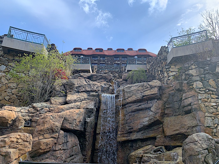 Entrance to the luxury spa at the Omni Grove Park Inn