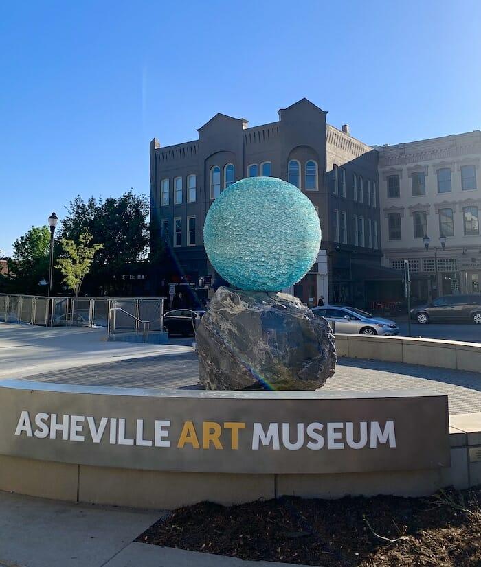 Asheville Art Museum entrance